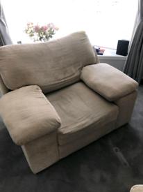 Free, Large beige armchair