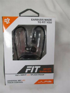 brand new black fit sport earbuds for sale $15 still in box ,