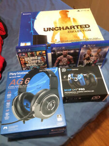PRO GAMER PS4 SET: System, SCUF Controller, Headset, and 4 Games