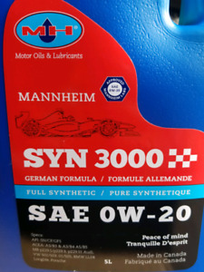 0w-20 Synthetic Motor oil
