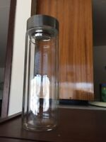 Two new glass water/tea bottles