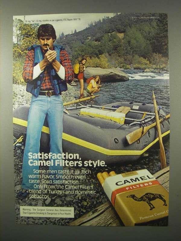 1980 Camel Filters Cigarettes Advertisement - Satisfaction