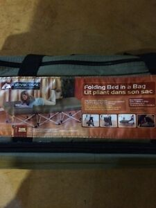 Folding bed in a bag