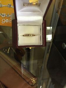 LUGARO SAPPHIRE AND DIAMOND RING $165.00