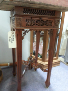 Vintage Asian Table and Plant Stand