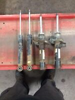 volkswagen mk5 06-09 front struts and rear shocks, no springs