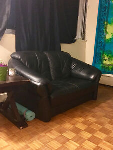 Comfortable Leather Loveseat