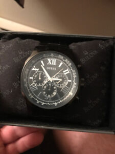 Chronograph Black Dial Black Ion-plated Men's Watch