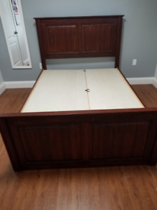 Full (Double) Solid Wooden bed with 6 large drawers
