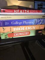 Pre-Health University stream books!