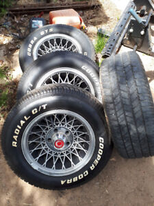 Set of 5 Bolt Hole Wheels and Tires