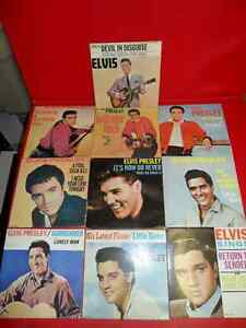 10 Elvis Singles 1957 to 1962 $100.  In unplayed condition. Prince George British Columbia image 1