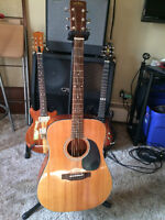 Sigma by Martin DM-4 Acoustic Guitar Trade for Electric