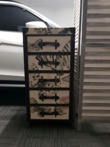 Butterfly Drawers (Wood, Linen and Leather) from RICE FURNITURE