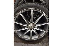 "17""Alloy wheels 5x100 swap"
