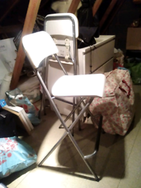 Pair of IKEA White Folding Stools