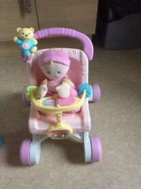 Fisher price girls baby walker with my first doll
