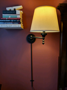 Aged  bronze wall sconces (x2)