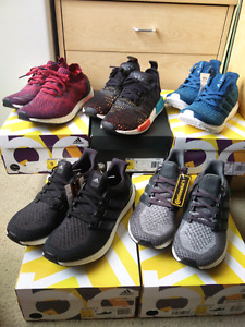 NMD, Ultra Boost 2.0, Ultra Boost 3.0, Uncaged - Size 8.5
