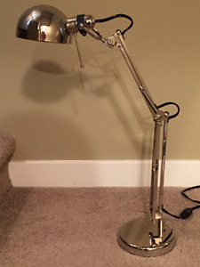 Ikea Forsa Work Lamp Nickel Plated