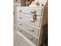 Utility chest painted in shades of mocha