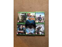 Xbox 1 games and controller