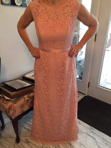Rose formal full length lace dress size 12