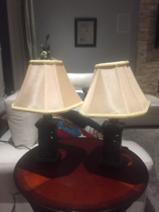 Two Elegant table lamps in excellent condition