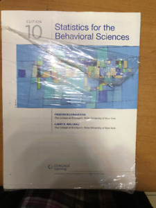 Barely used-Statistics for Behavioral Science-10th Ed