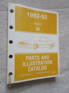 1992 1993 Buick Summerset & Skylark Parts & Illustration catalog