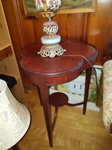 "Gorgeous antique solid wood accent table207"" by 19.5"" by 20"""