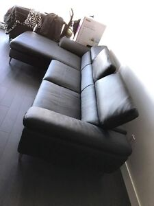 Black Imitation Leather sofa