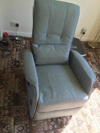 Brand New - Rise and Recliner chair in Grey