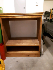 Strong wood t.v stand