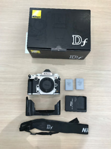 Nikon DF Silver with 50mm lens and accessories