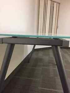 Glass top desk Iron leg stainless steel London Ontario image 4