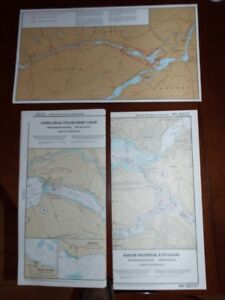 6 Marine Charts, Montreal to Ottawa (Can. Hydrogr.) $25 total