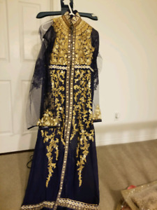 Indian pakistani wedding party gown unstitched