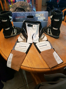 Motocross boots and pants for kids