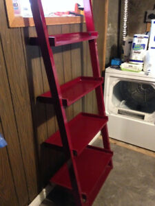 Red Ladder/Leaning Shelf