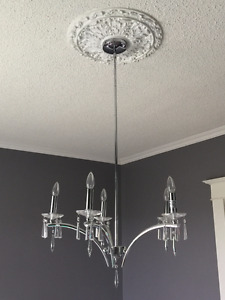 Light fixture- Pair of Beautiful contemporary glass chandeliers