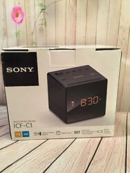 Sony ICF-C1T Alarm Clock Radio Single Alarm Black Gradual Wake Alarm, Back-up