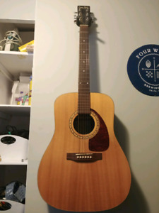Simon and Patrick electric acoustic guitar