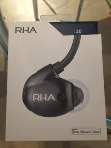 RHA T20i Black In-Ear Headphones with Remote & Microphone