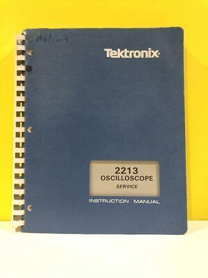 Tektronix 070-3827-00 2213 Oscilloscope Service Instruction Manual