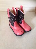 Old West size 8 pink cowboy boot toddler