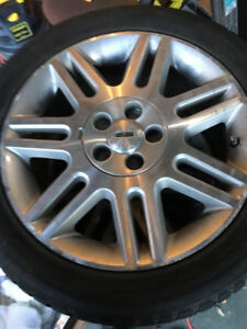 4 x 17 in. Winter Tires , Ford Rims Off A Lincoln LS (225/50R17)