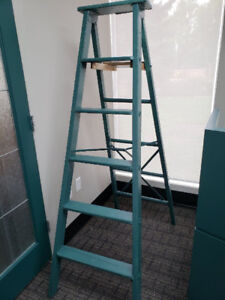 Vintage Green Painted Ladder Great for Store Use or Photography