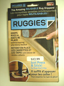 NEW RUGGIES - (reuseable corners to keep rugs in place)