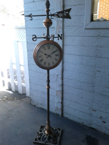 Outdoor clock/ temperature  and wind direction